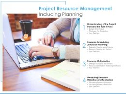 Project Resource Management Including Planning