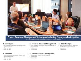 Project Resource Management Techniques Including Employees Participation