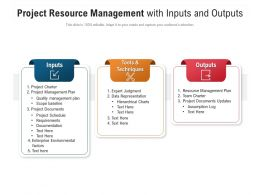 Project Resource Management With Inputs And Outputs