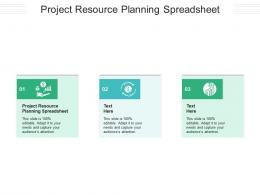 Project Resource Planning Spreadsheet Ppt Powerpoint Presentation Infographic Template Graphics Download Cpb