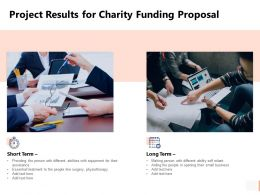 Project Results For Charity Funding Proposal Technology Ppt Presentation Slides