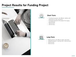 Project Results For Funding Project Ppt Powerpoint Presentation Ideas Example