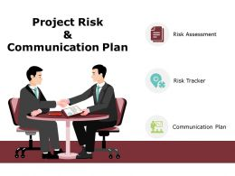 Project Risk And Communication Plan Ppt Powerpoint Presentation Gallery Graphics Template