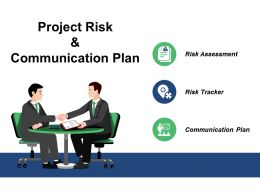 Project Risk And Communication Plan Ppt Slides Graphics Design