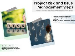 Project Risk And Issue Management Steps