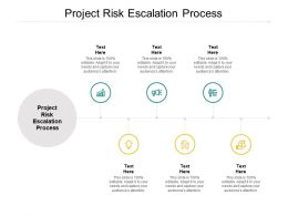 Project Risk Escalation Process Ppt Powerpoint Presentation Model Design Inspiration Cpb