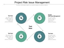 Project Risk Issue Management Ppt Powerpoint Presentation Inspiration Cpb