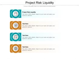 Project Risk Liquidity Ppt Powerpoint Presentation Infographics Graphics Download Cpb