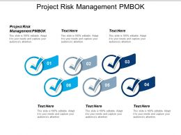 Project Risk Management Pmbok Ppt Powerpoint Presentation Gallery Samples Cpb