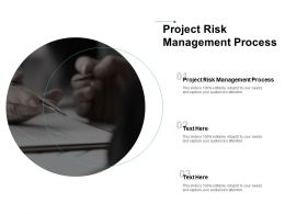 Project Risk Management Process Ppt Powerpoint Presentation Layouts Infographic Template Cpb