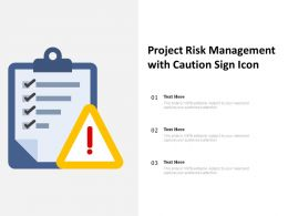 Project Risk Management With Caution Sign Icon