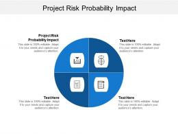Project Risk Probability Impact Ppt Powerpoint Presentation File Objects Cpb
