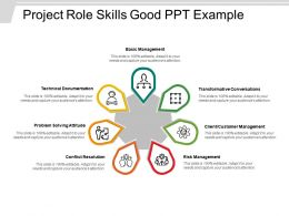 Project Role Skills Good Ppt Example