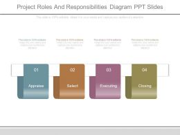 Project Roles And Responsibilities Diagram Ppt Slides