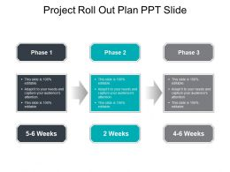 Project Roll Out Plan Ppt Slide