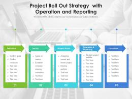 Project Roll Out Strategy With Operation And Reporting