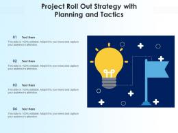 Project Roll Out Strategy With Planning And Tactics
