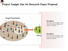 Project Sample Size For Research Paper Proposal Audiences Attention Ppt Powerpoint Slide