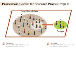 Project Sample Size For Research Project Proposal Ppt Powerpoint Presentation Clipart