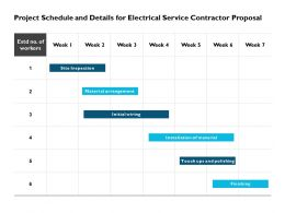 Project Schedule And Details For Electrical Service Contractor Proposal Ppt Slides