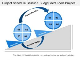 Project Schedule Baseline Budget Acct Tools Project Progress