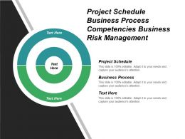 Project Schedule Business Process Competencies Business Risk Management Cpb