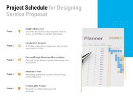 Project Schedule For Designing Service Proposal Ppt Powerpoint Presentation File Formats