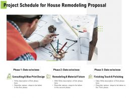 Project Schedule For House Remodeling Proposal Ppt Powerpoint Presentation Inspiration