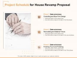 Project Schedule For House Revamp Proposal Ppt Powerpoint Presentation Icon Example