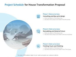 Project Schedule For House Transformation Proposal Ppt File Graphics Template