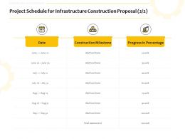 Project Schedule For Infrastructure Construction Proposal Ppt Powerpoint Ideas