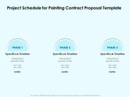 Project Schedule For Painting Contract Proposal Template Ppt Powerpoint Layouts