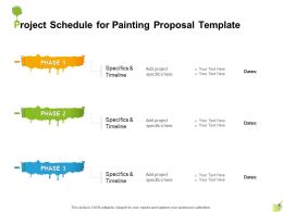 Project Schedule For Painting Proposal Template Ppt Powerpoint Presentation Slides