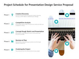 Project Schedule For Presentation Design Service Proposal Ppt Powerpoint