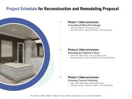 Project Schedule For Reconstruction And Remodeling Proposal Ppt Powerpoint Presentation Icon