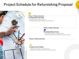 Project Schedule For Refurnishing Proposal Ppt Powerpoint Presentation