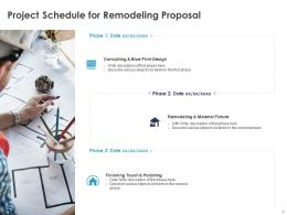 Project Schedule For Remodeling Proposal Ppt Powerpoint Presentation Gallery Slide