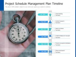 Project Schedule Management Plan Timeline