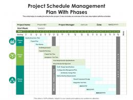 Project Schedule Management Plan With Phases