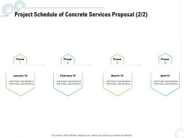 Project Schedule Of Concrete Services Proposal Ppt Powerpoint Presentation Ideas Graphic Images