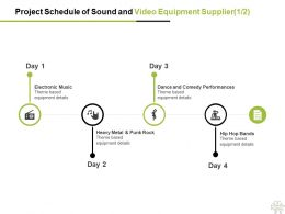 Project Schedule Of Sound And Video Equipment Supplier Checklist Ppt Powerpoint Presentation