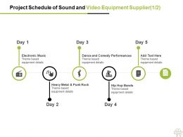 Project Schedule Of Sound And Video Equipment Supplier Management Ppt Powerpoint Presentation