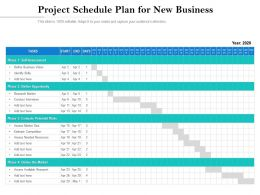 Project Schedule Plan For New Business