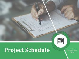 Project Schedule Powerpoint Presentation Slides