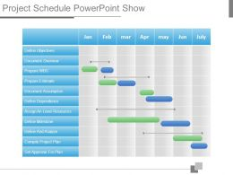 Project Schedule Powerpoint Show