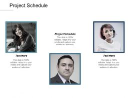 Project Schedule Ppt Powerpoint Presentation Ideas Objects Cpb
