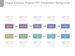Project Schedule Program Ppt Presentation Backgrounds