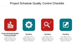 Project Schedule Quality Control Checklist Ppt Powerpoint Topics Cpb