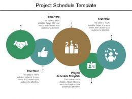 Project Schedule Template Ppt Powerpoint Presentation Layouts Guide Cpb