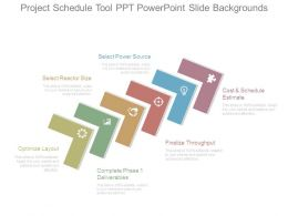Project Schedule Tool Ppt Powerpoint Slide Backgrounds